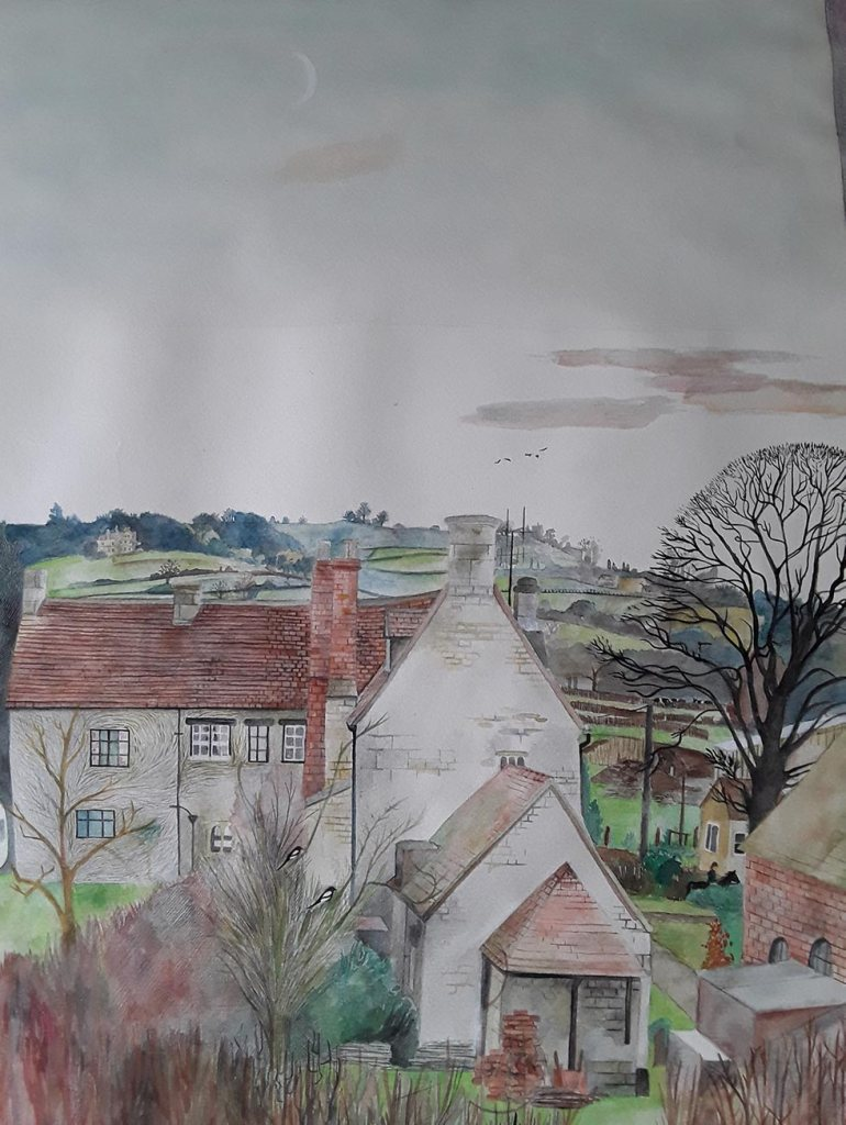 Painting of an English village